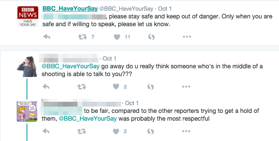 Comment la BBC a contacté un témoin de la fusillade du Umpqua Community College sur Twitter